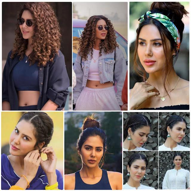 Sonam Bajwa Hairstyles