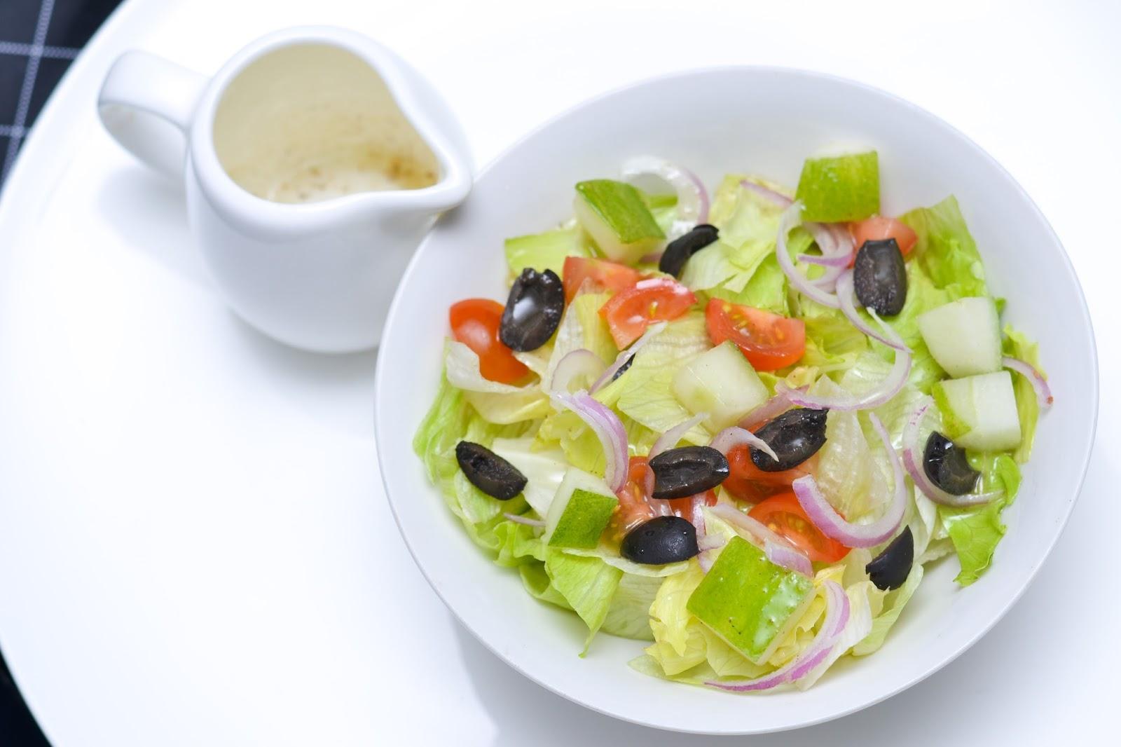Greek Salad Flatlay