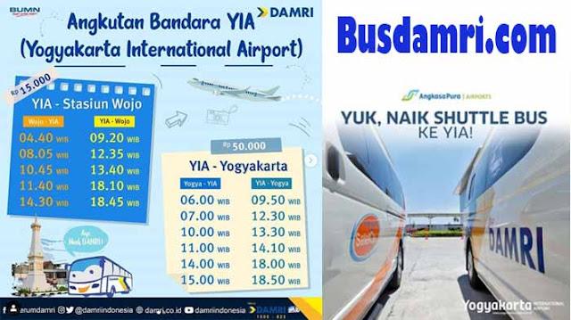 Damri Bandara YIA, Transportasi Dari dan Ke Jogja
