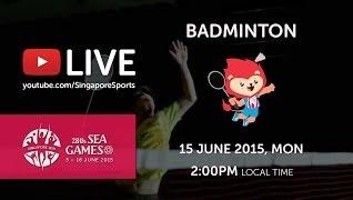 siaran langsung Badminton Sukan SEA 2015 Singapura