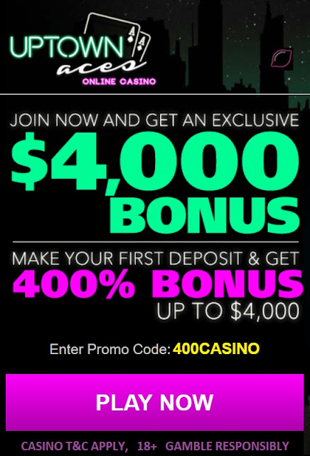 Uptown Aces casino welcome bonus