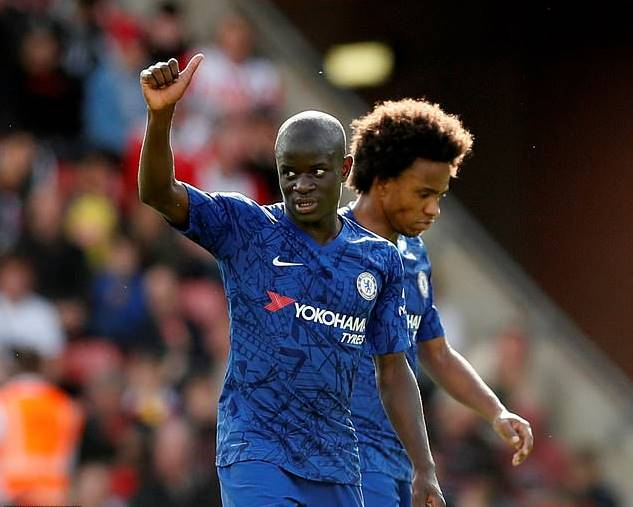 Chelsea players – N'Golo Kante and Willian