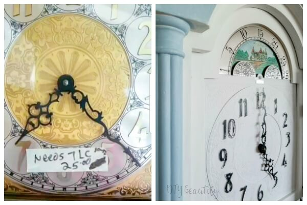 clock face before after