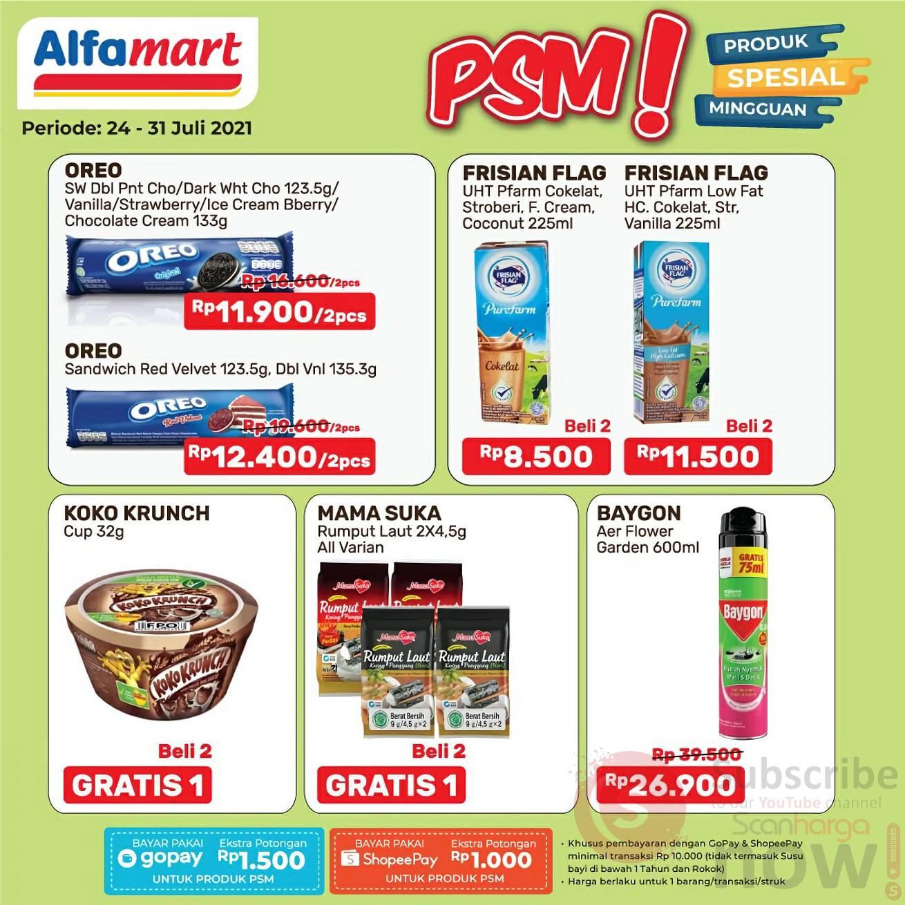 Katalog Promo PSM Alfamart Terbaru 24 - 31 Juli 2021