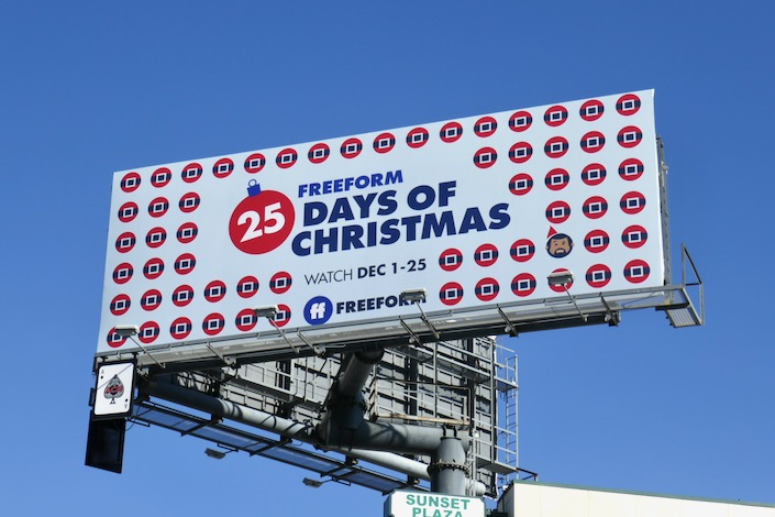 Freeform 25 Days of Christmas billboard