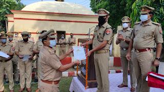 उत्कृष्ठ कार्य करने वाले 23 पुलिस कर्मी किये गए सम्मानित  | #NayaSaberaNetwork