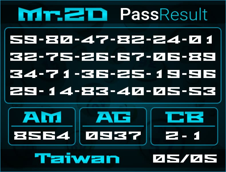 Mr.2D - Rumus Togel Taiwan