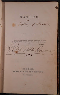 Inscribed title page to Nature