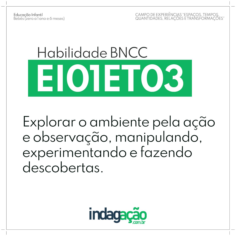 Habilidade EI01ET03 BNCC