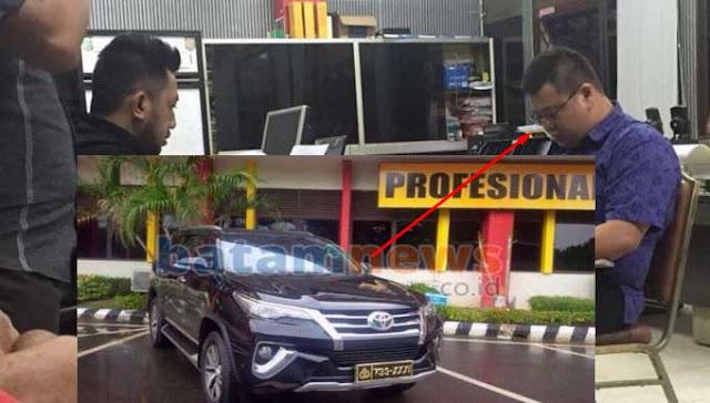 Heboh, Pakai Plat Mobil Kapolres Pengusaha Ini Dilayani bak Kapolres