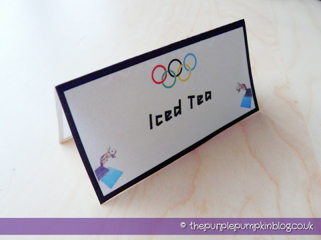 #Olympics Food Labels #Printable at The Purple Pumpkin Blog