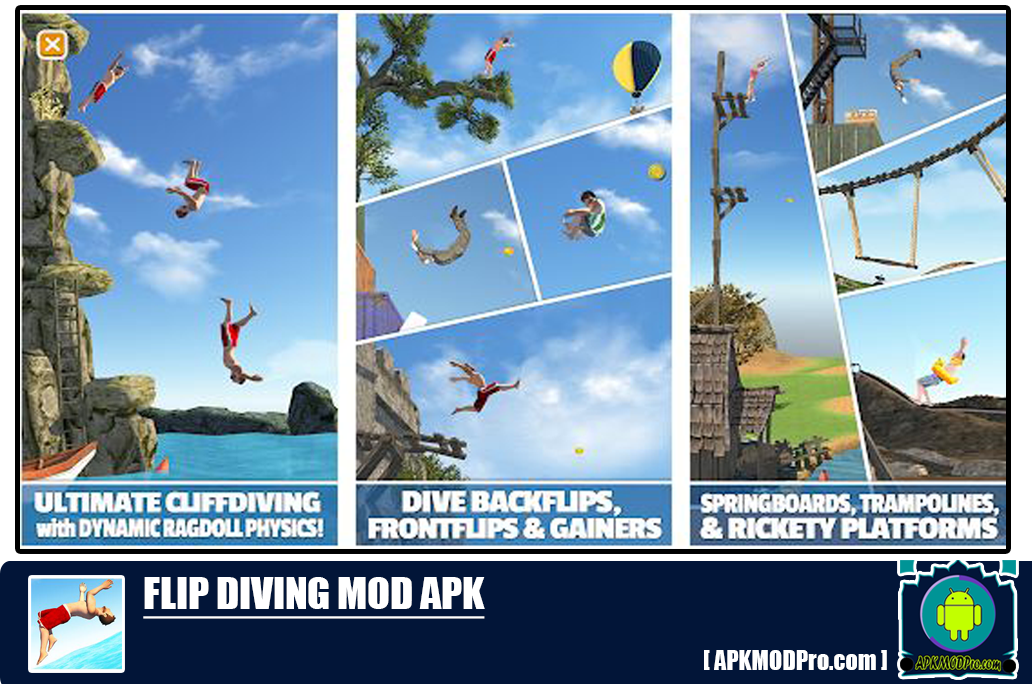 Download Flip Diving MOD APK 3.0.05 (Unlimited Money/Coins)
