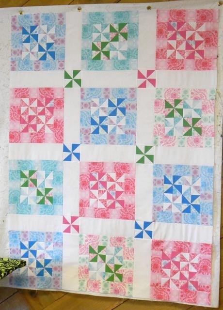 Pastel Pinwheel Quilt Free Pattern