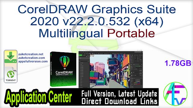 CorelDRAW Graphics Suite 2020 v22.2.0.532 (x64) Multilingual Portable