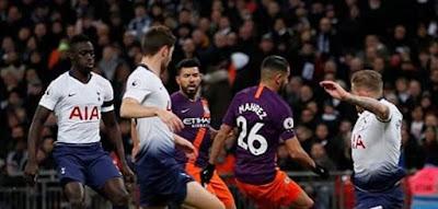 مباراة مانشستر سيتي وتوتنهام ضمن مباريات الدوري الانجليزي 2019