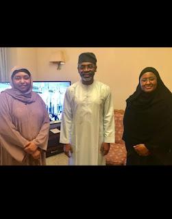 20190809 151434 - Picture of Gbajabiamila and Aisha Buhari in Mecca -@9jasuperstar