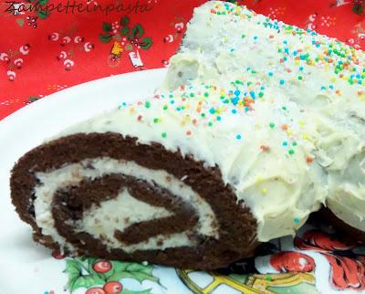 Tronchetto di Natale con ricotta e cioccolato bianco