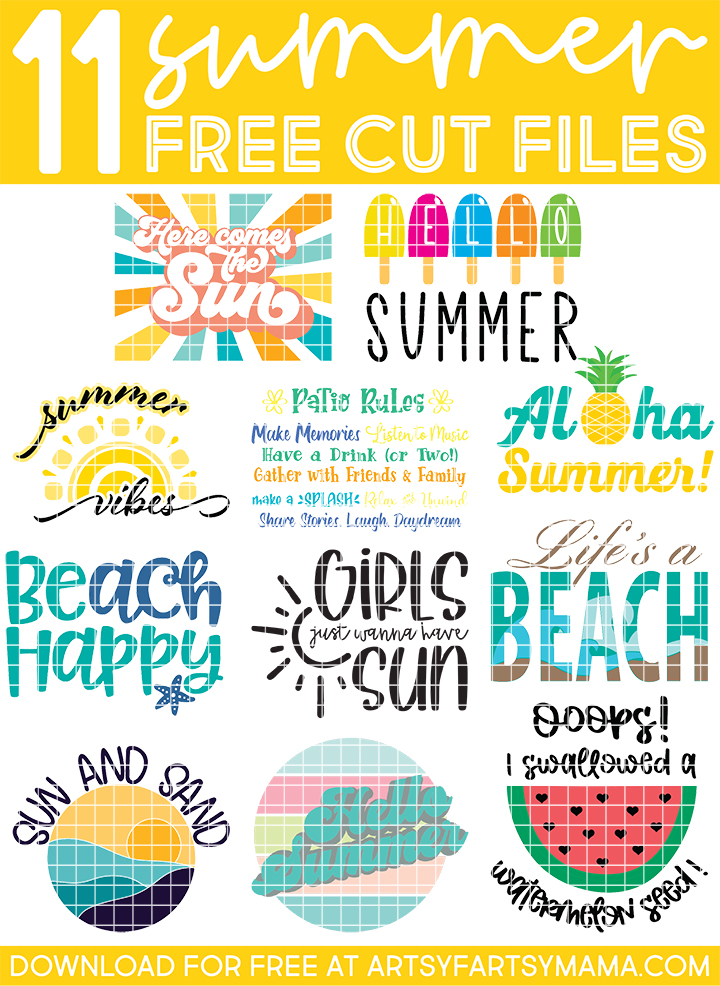 11 Free Summer Cut Files