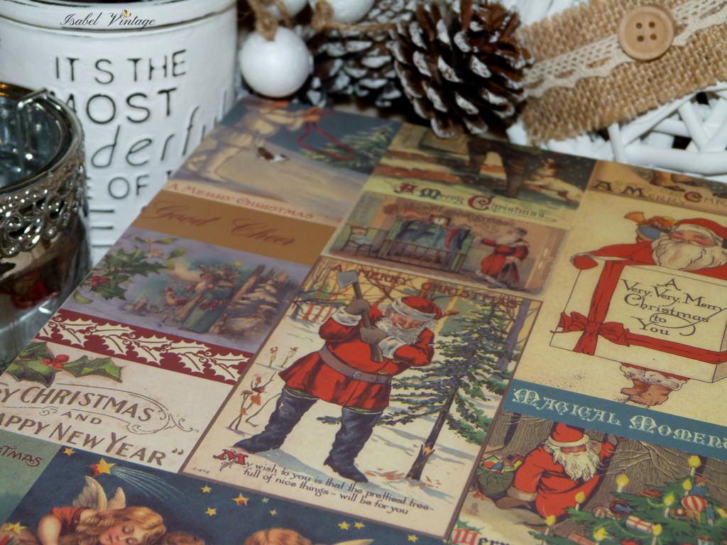 Cajas Decoradas Para Regalos De Navidad Isabel Vintage