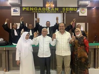 Menghadiri Sidang Daring MK dari Pengadilan Semu FH UNA, Paslon Surya-Taufik Menang