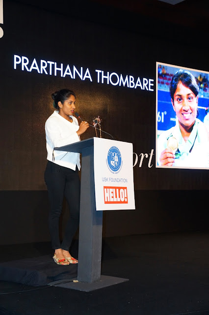 Prarthna Thombre felicitated for her contribution in Sports at URJA Awards in association with Hello!