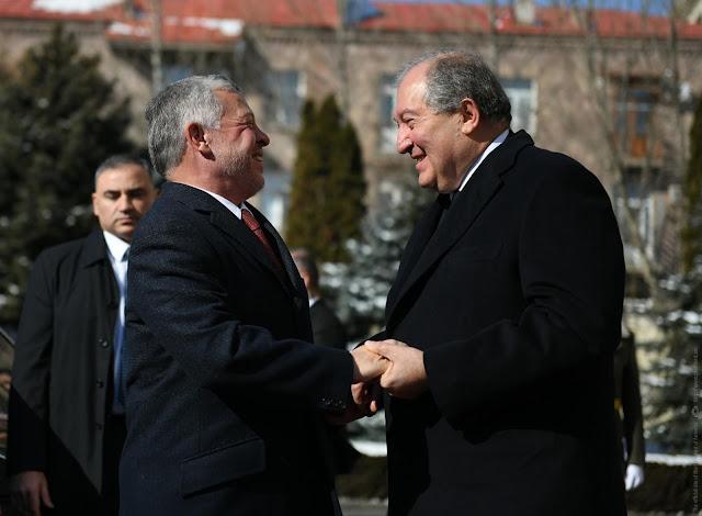El rey Abdullah II de Jordania llegó a Armenia