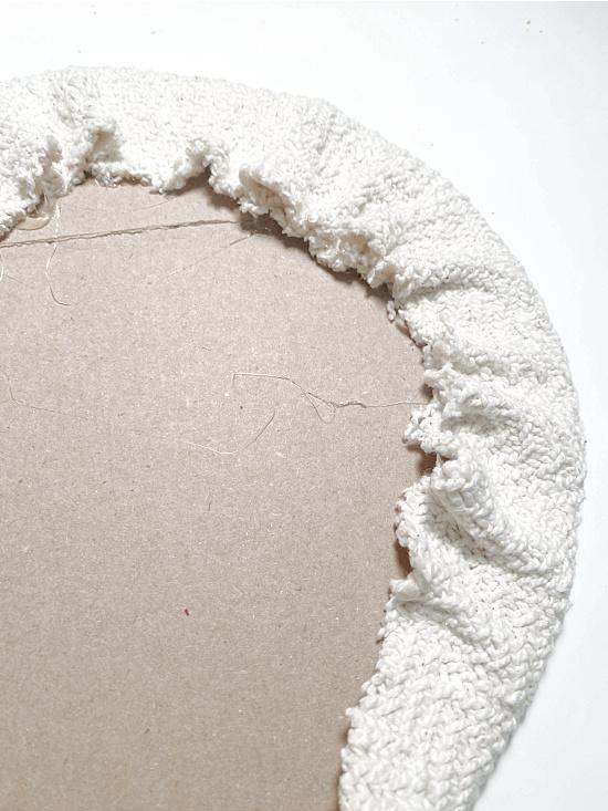 fabric wrapped cardboard circle