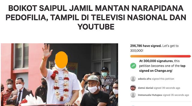 Petisi Boikot Tembus Ratusan Ribu, Anggota DPR Minta KPI Hentikan Tayangan Saipul Jamil