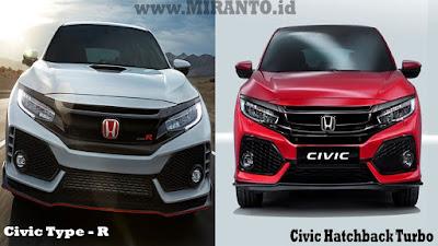 Perbedaan Civic Hatchback Turbo dengan Civic Type R