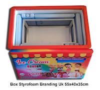 box styrofoam branding untuk usaha es krim besar