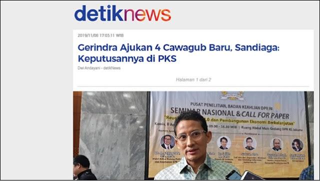Gerindra Jakarta Berkhianat?