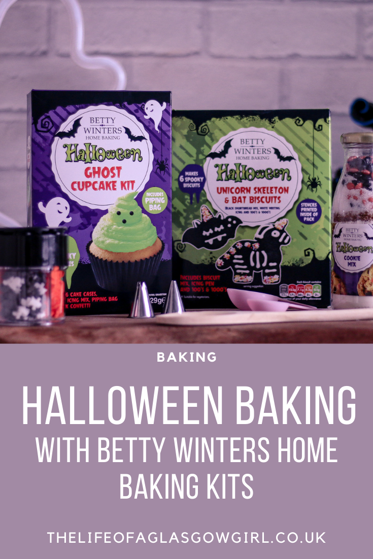 Pinterest image for Halloween Baking with Betty Winters Home Baking kits - Halloween activities to keep kids busy