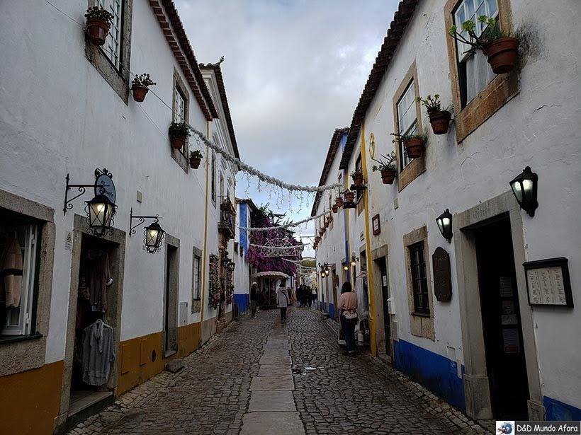 Ruas de Óbidos, Portugal