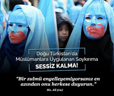 """""""Bir zulmü engelleyemiyorsanız en azından onu herkese duyurun."""" Hz. Ali (ra), türkistan, doğu türkistan, çin, zulüm, zalim, soykırım, işkence, tecavüz, kadın, kız, baskı, ölüm, gözyaşı,"""