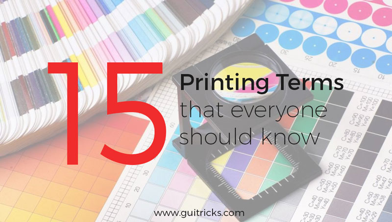 15 Printing Terms Everyone Should Know