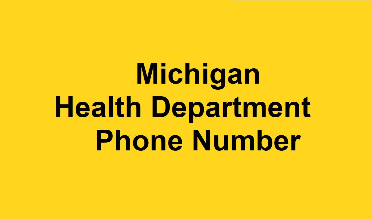 Michigan Health Department Phone Number