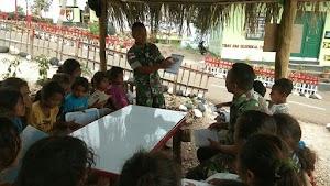 Satgas Yonif Raider 408/Sbh Tingkatkan Minat Baca Anak-anak Perbatasan