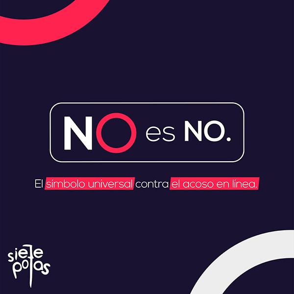 NO-es-NO-SietePolas-lanzamientos-símbolo-universal-NO-acoso-sexual-línea