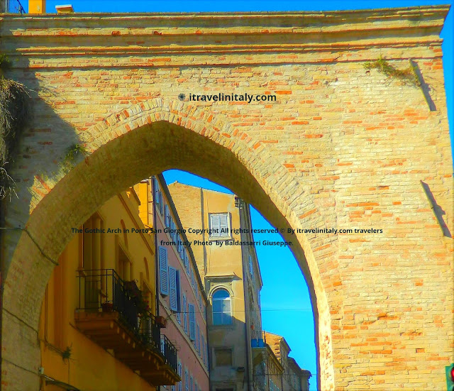 The Gothic Arch in Porto San Giorgio @portosangiorgio Copyright All rights reserved © By itravelinitaly.com travelers from Italy Photo OnGoogleMaps by Baldassarri Giuseppe.