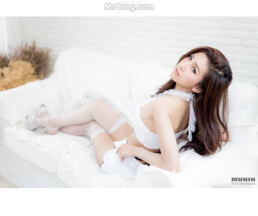 Người đẹp Jurarak Untao mơ màng quyến rũ với nội y trắng (10 ảnh)