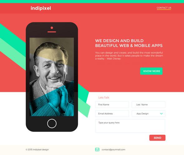 Indipixel – Free PSD Template