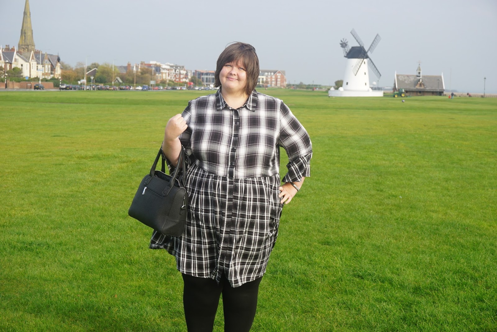 ASOS OOTD check dress