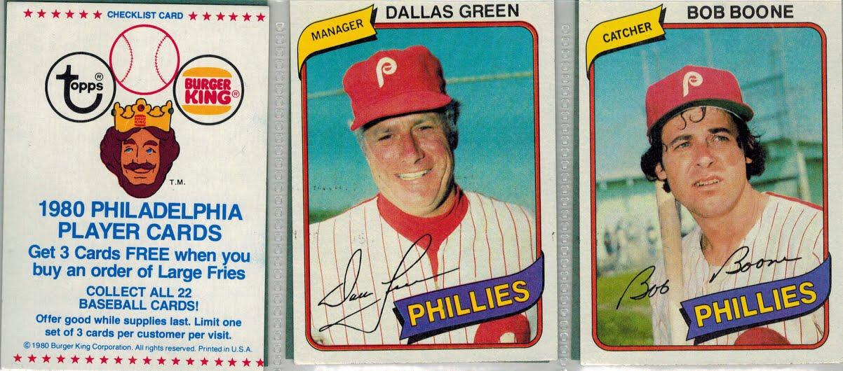 From A 1980s Baseball Card Collector Burger King Cards Part 2 Of 2