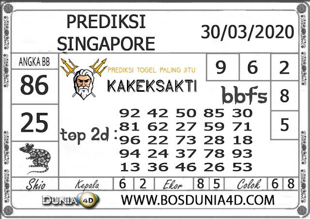 Prediksi Togel SINGAPORE DUNIA4D 30 MARET 2020