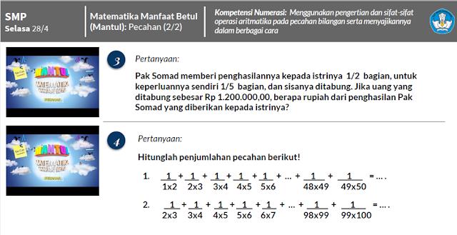 Kunci Jawaban Mantul-Matematika SMP , Urutkan pecahan 0,3 ; 36% ; 3/7 ; 5/9 ; 0,25 dari kecil ke besar