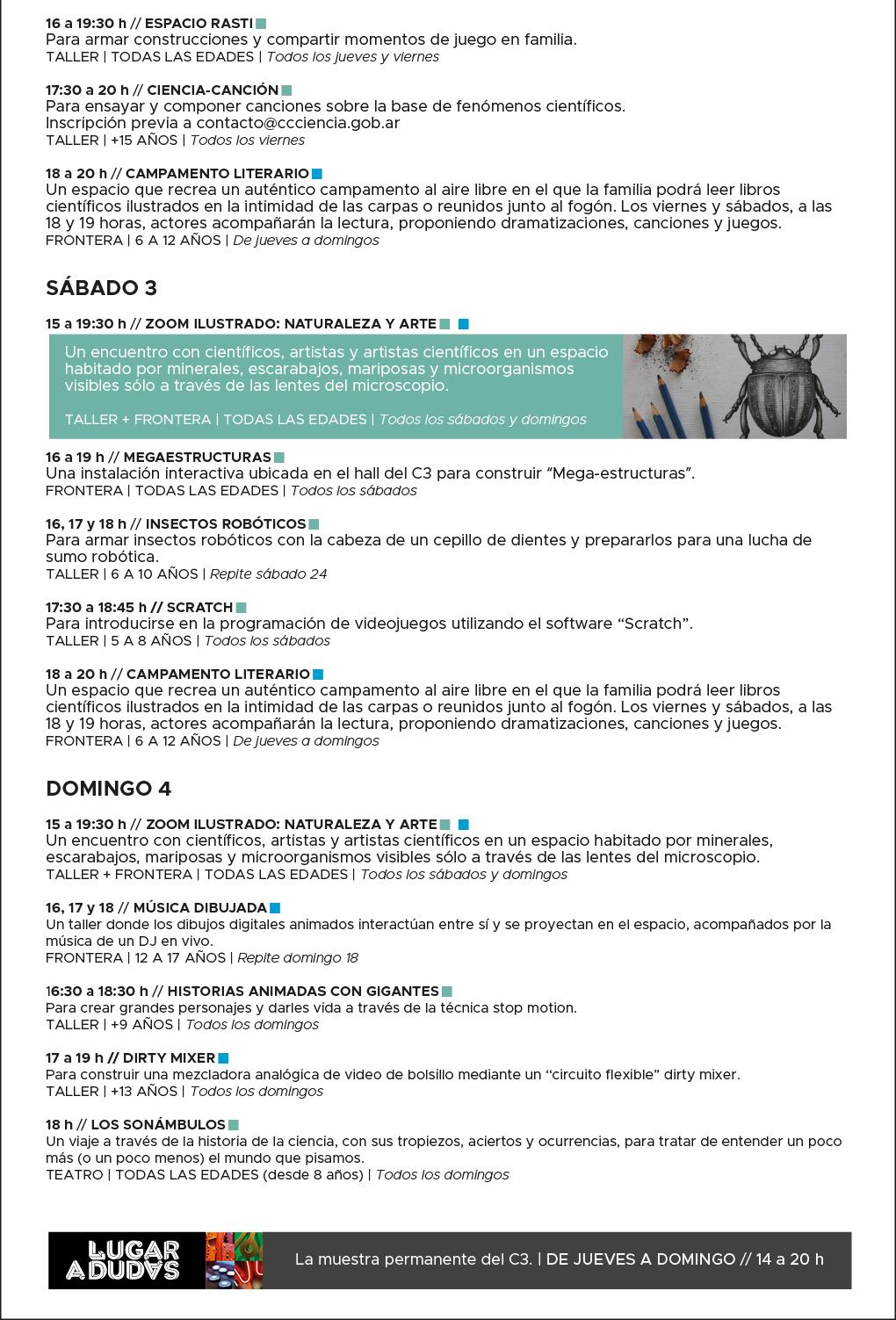 ad7421afd58cb C3 - Agenda Semanal - 1 al 4 de febrero - Centro Cultural de la ...