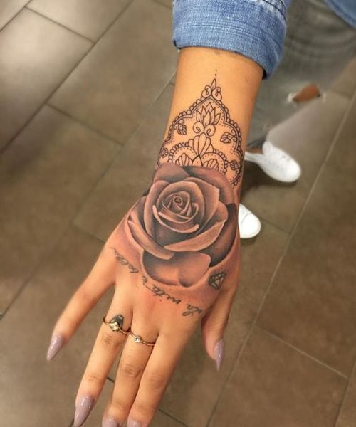 Name Tattoos For Women On Hand