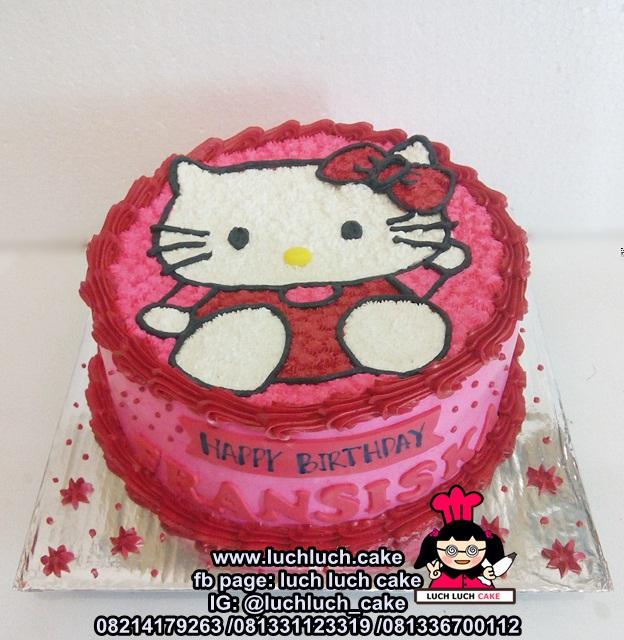 Luch Luch Cake Kue Tart Ulang Tahun Hello Kitty Untuk Anak