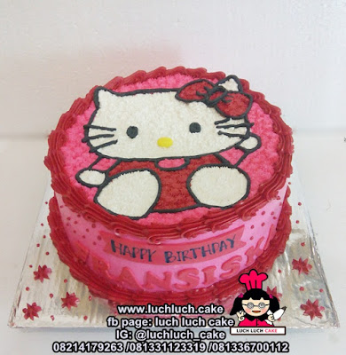 Kue Tart Ulang Tahun Hello Kitty Untuk Anak Cewek