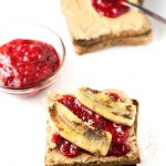 Rhubarb Jelly Sandwich: This is the upgraded version of the traditional peanut butter and jelly sandwich. It is made with homemade rhubarb jam and banana.